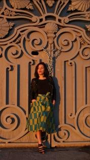 jupe tablier bleu et jaune by korywade